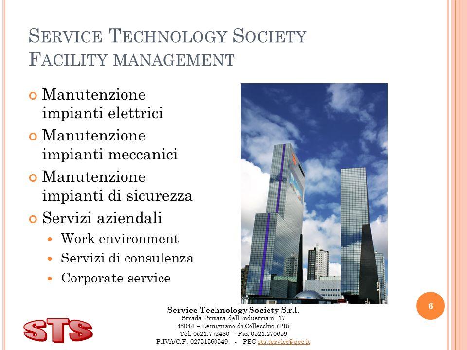 Service Technology Society S.r.l.Strada Privata dell'Industria n.