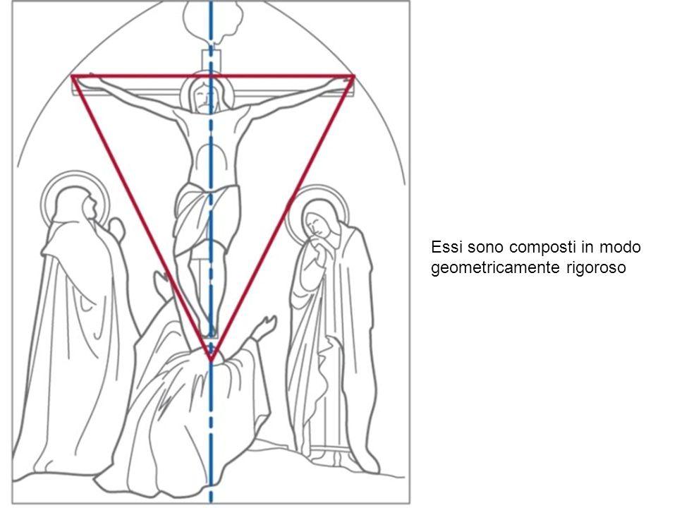 Essi sono composti in modo geometricamente rigoroso