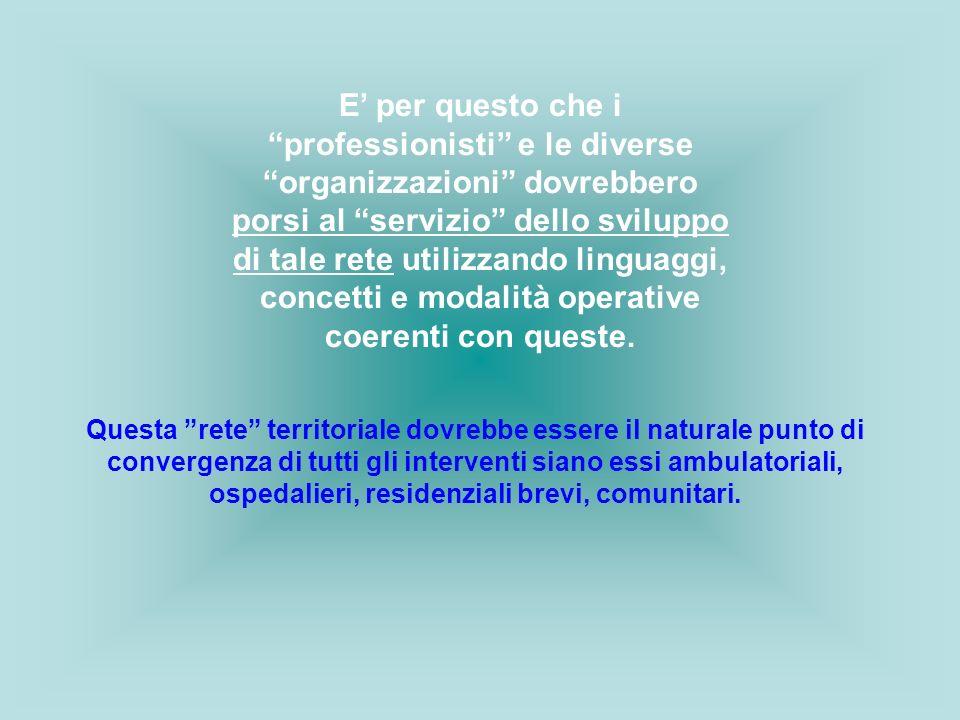 """E' per questo che i """"professionisti"""" e le diverse """"organizzazioni"""" dovrebbero porsi al """"servizio"""" dello sviluppo di tale rete utilizzando linguaggi, c"""