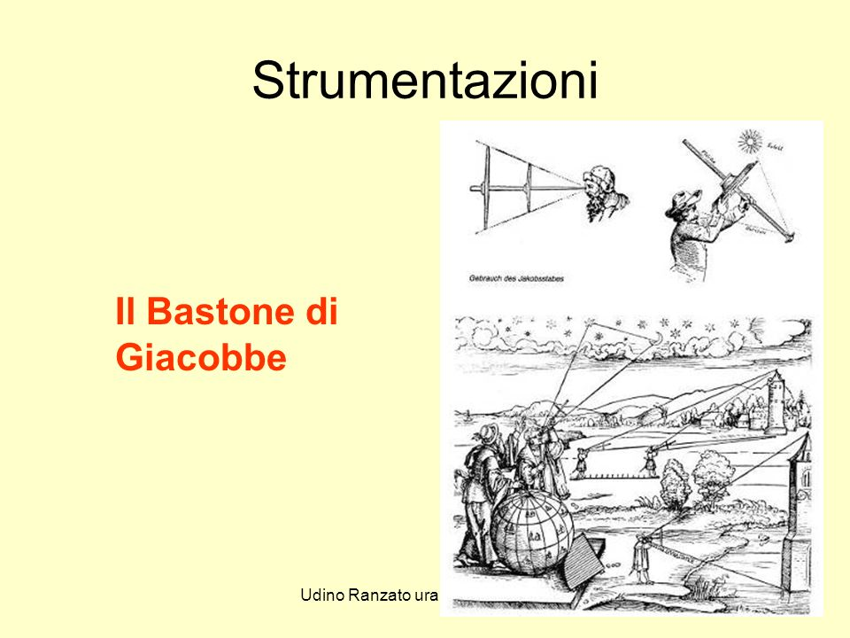 Udino Ranzato uranzato@libero.it Strumentazioni Il Bastone di Giacobbe