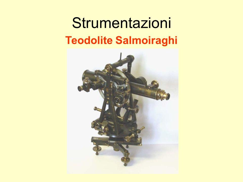 Udino Ranzato uranzato@libero.it Strumentazioni Teodolite Salmoiraghi