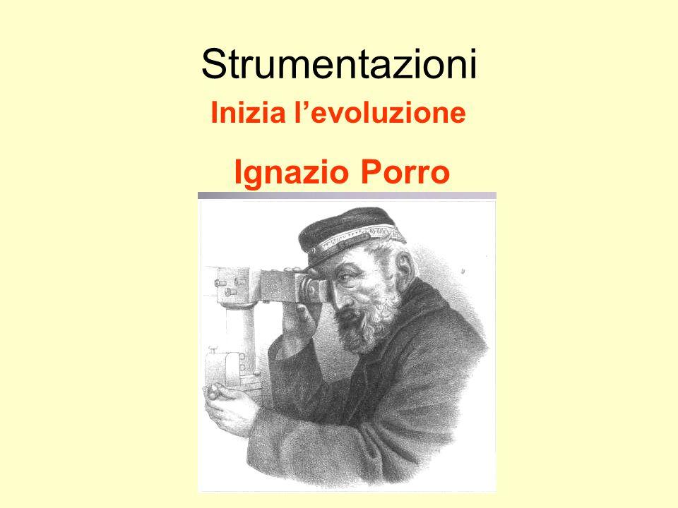 Udino Ranzato uranzato@libero.it Strumentazioni Inizia l'evoluzione Ignazio Porro