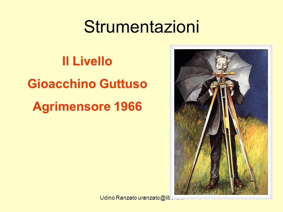 Udino Ranzato uranzato@libero.it Strumentazioni Il Livello Gioacchino Guttuso Agrimensore 1966