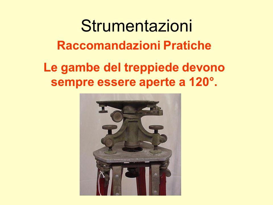 Udino Ranzato uranzato@libero.it Strumentazioni Raccomandazioni Pratiche Le gambe del treppiede devono sempre essere aperte a 120°.