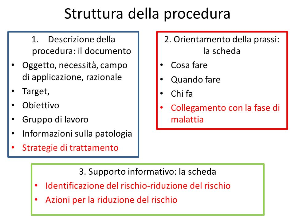 Struttura della procedura 2.