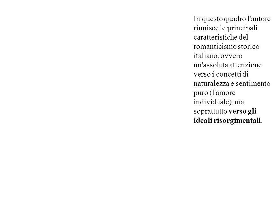 In questo quadro l'autore riunisce le principali caratteristiche del romanticismo storico italiano, ovvero un'assoluta attenzione verso i concetti di
