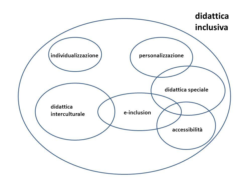 didattica inclusiva individualizzazionepersonalizzazione didattica speciale accessibilità e-inclusion didattica interculturale
