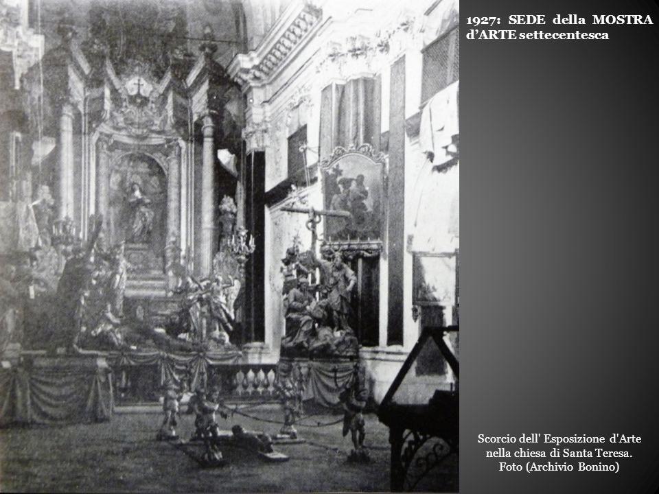 Scorcio dell Esposizione d Arte nella chiesa di Santa Teresa.