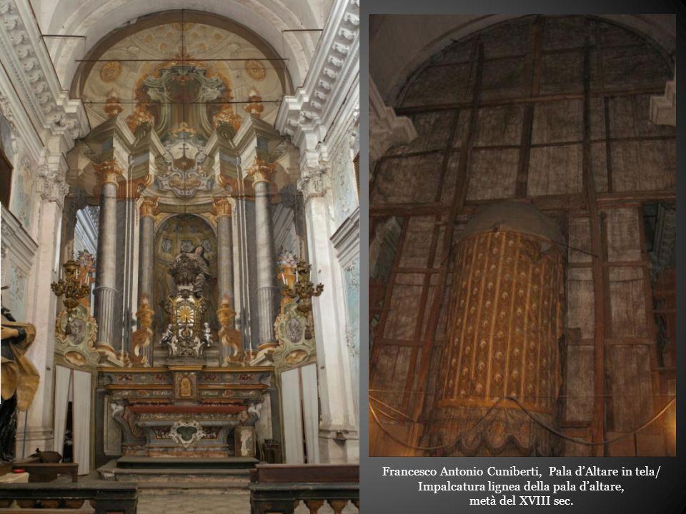 Francesco Antonio Cuniberti, Pala d'Altare in tela/ Impalcatura lignea della pala d'altare, metà del XVIII sec.