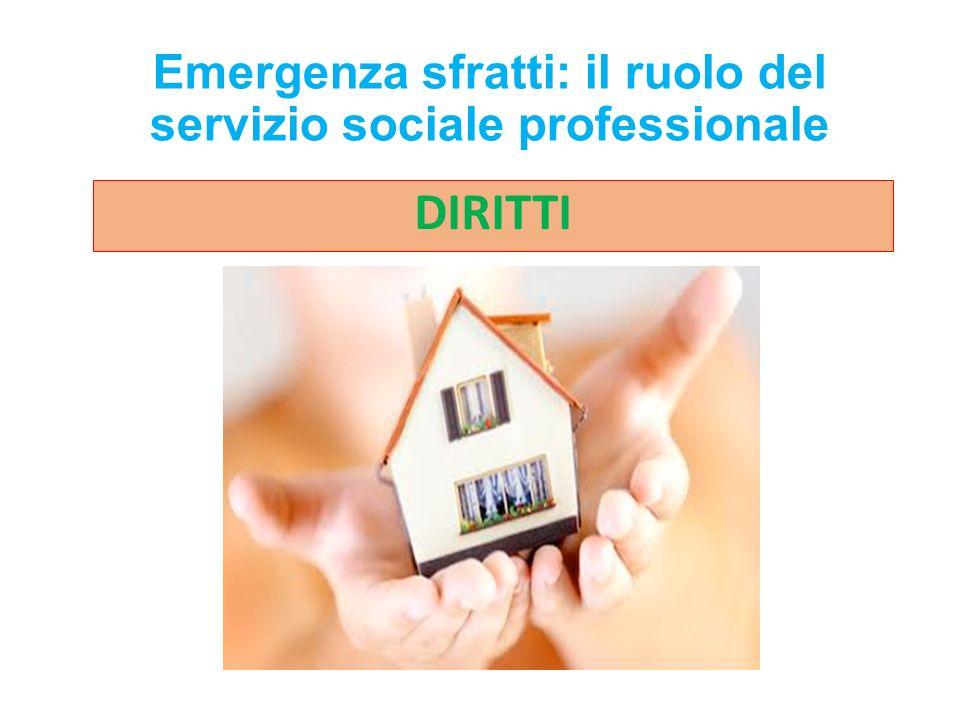 Emergenza sfratti: il ruolo del servizio sociale professionale DIRITTI