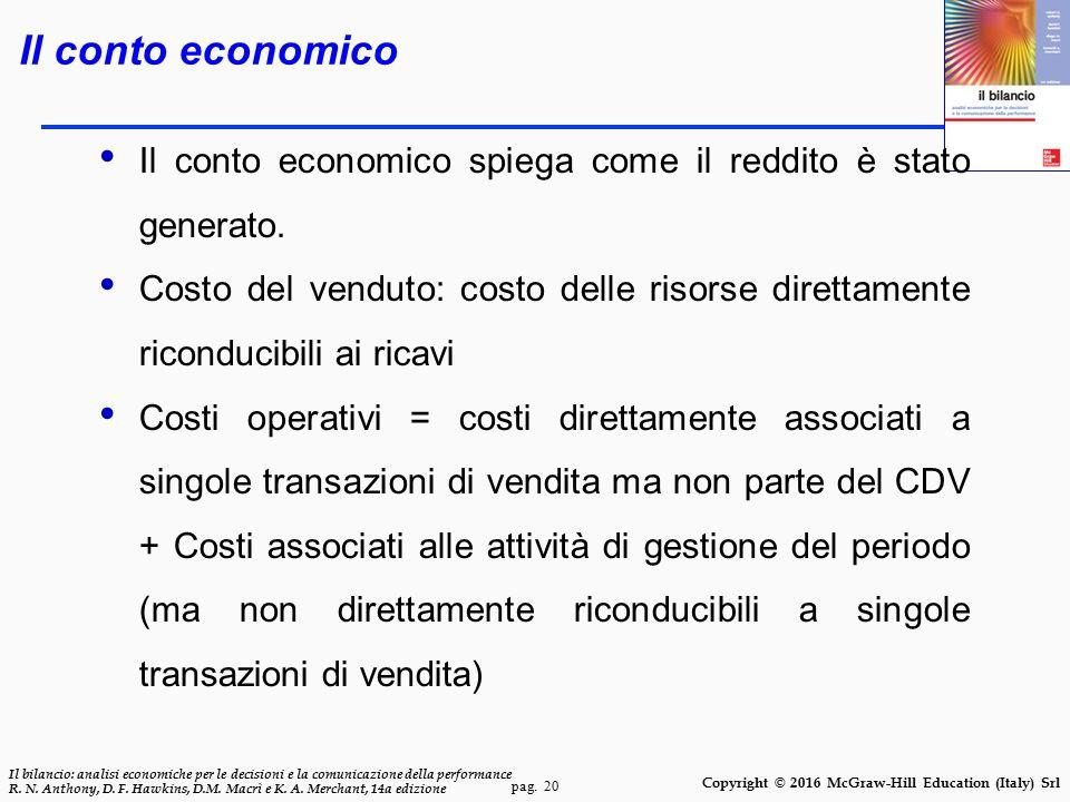 pag. 20 Il bilancio: analisi economiche per le decisioni e la comunicazione della performance R. N. Anthony, D. F. Hawkins, D.M. Macrì e K. A. Merchan