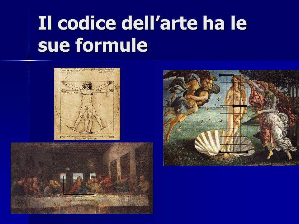 Il codice dell'arte ha le sue formule