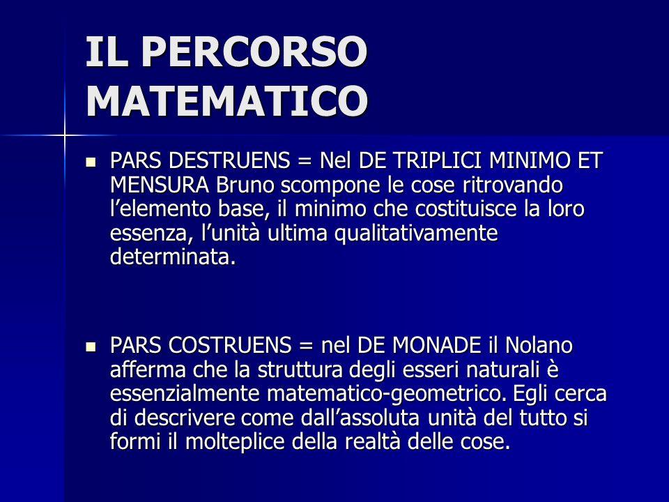 La meticolosa analisi del particolare conduce alla riscoperta della simmetria UOMO-DIO-NATURA e coglie l'universo come FINITAMENTE INFINITO ( infiniti la causa e l'effetto , Cusano).