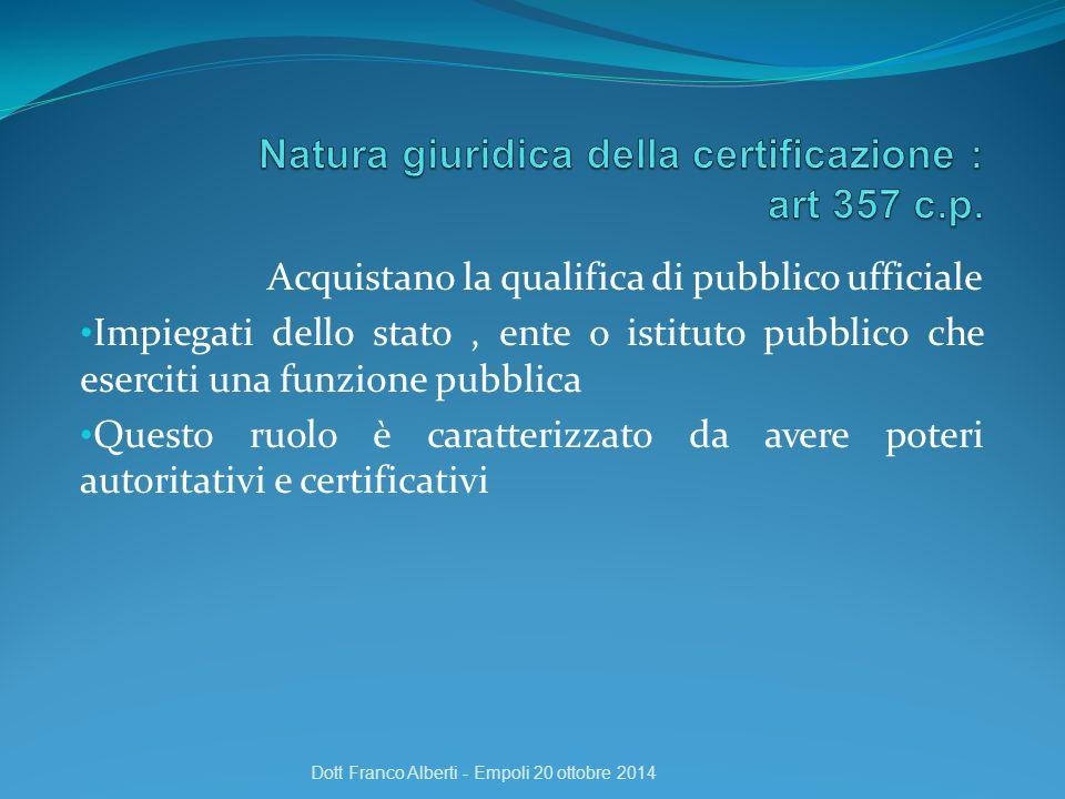 Acquistano la qualifica di pubblico ufficiale Impiegati dello stato, ente o istituto pubblico che eserciti una funzione pubblica Questo ruolo è caratt
