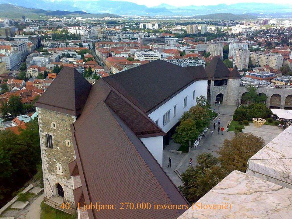 41. Podgorica: 151.000 inwoners (Montenégro)