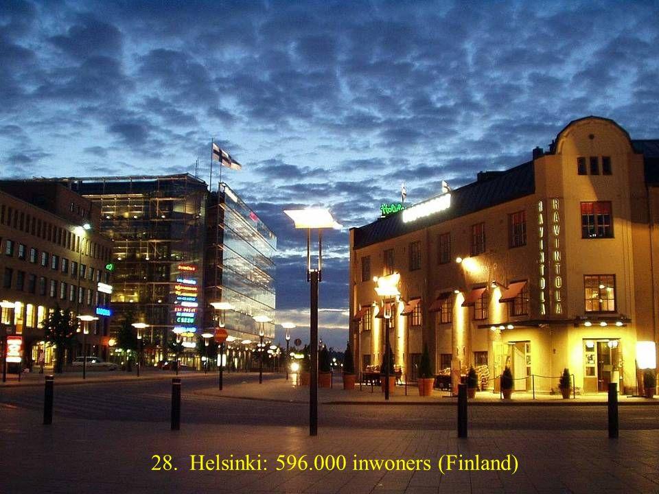 29. Vilnius: 560.000 inwoners (Litouwen)