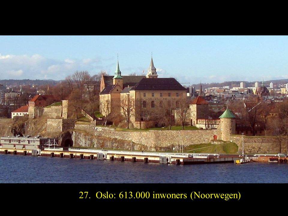 28. Helsinki: 596.000 inwoners (Finland)