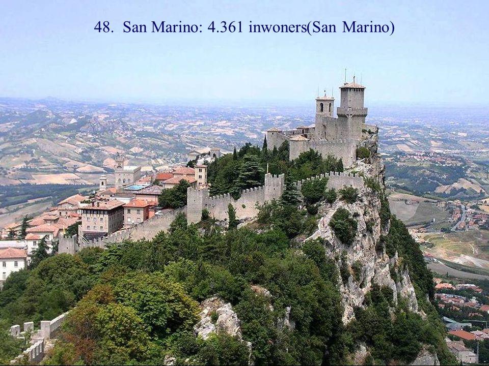 49. Monte Carlo: 1.151 inwoners (Monaco)