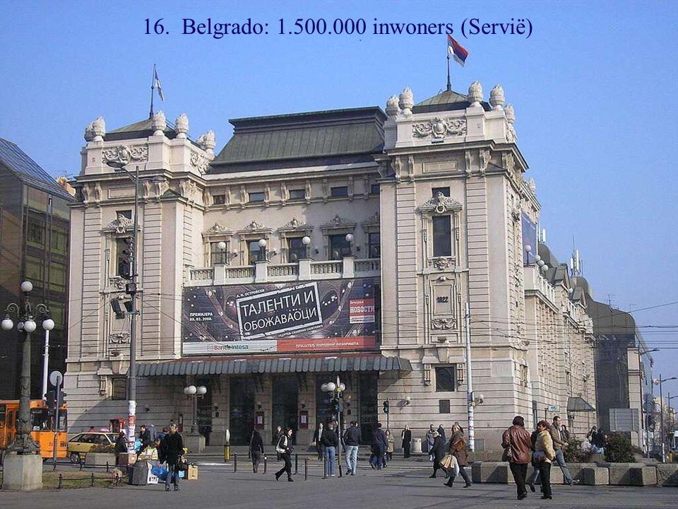 17. Sofia: 1.400.000 inwoners (Bulgarië)