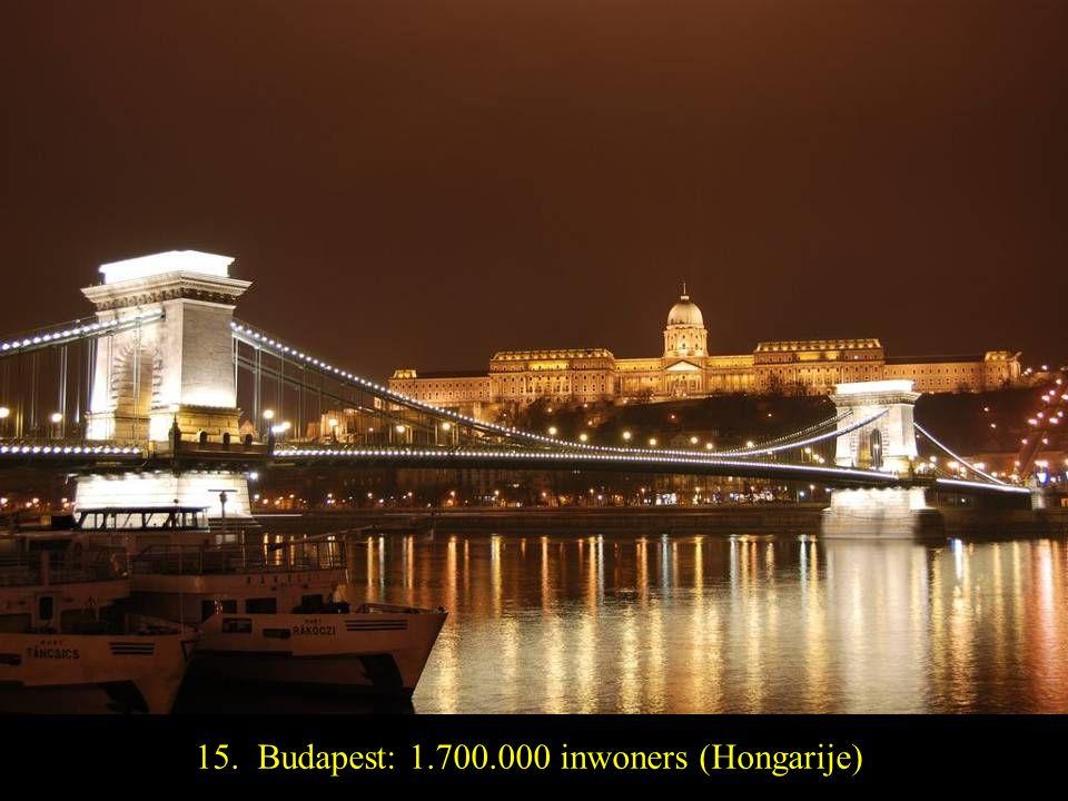 16. Belgrado: 1.500.000 inwoners (Servië)