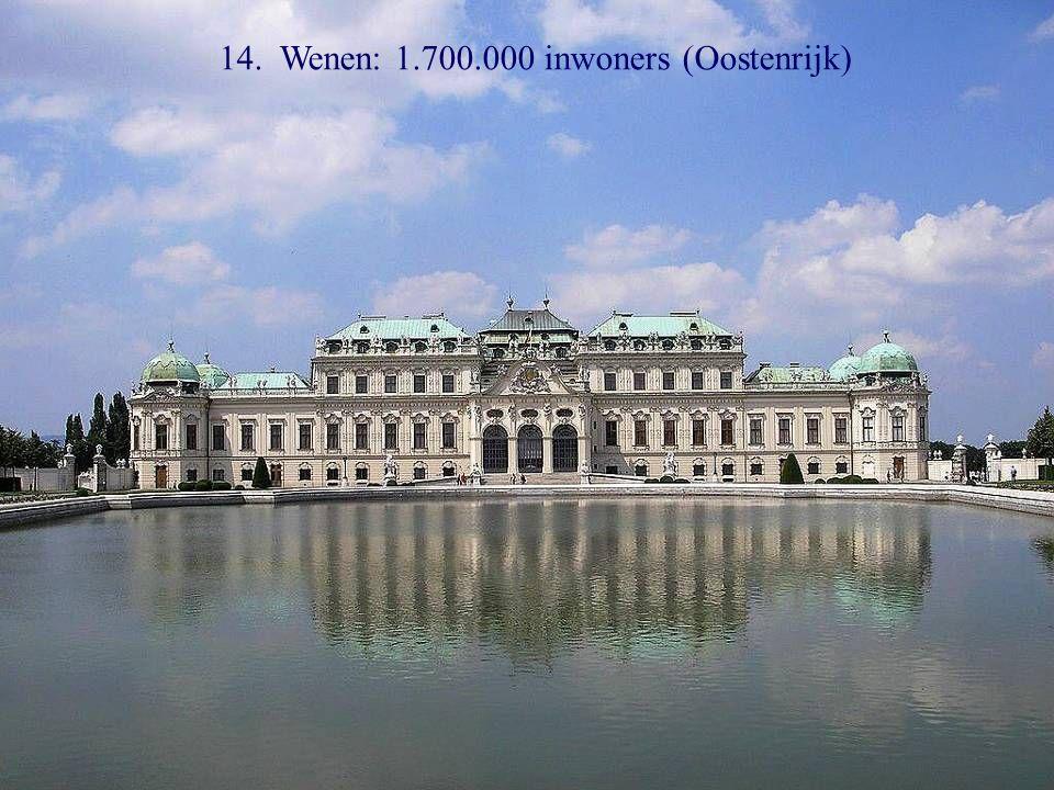 15. Budapest: 1.700.000 inwoners (Hongarije)