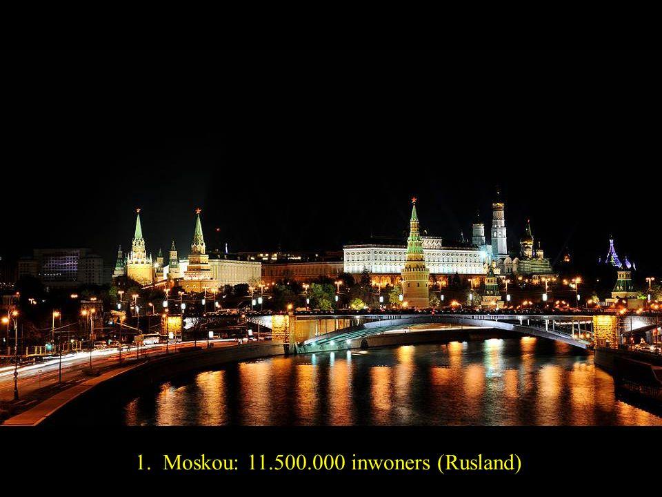 2. Londen: 8.200.000 inwoners (Engeland)