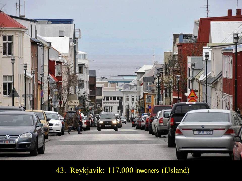 44. Luxemburg: 104.000 inwoners (Luxemburg)
