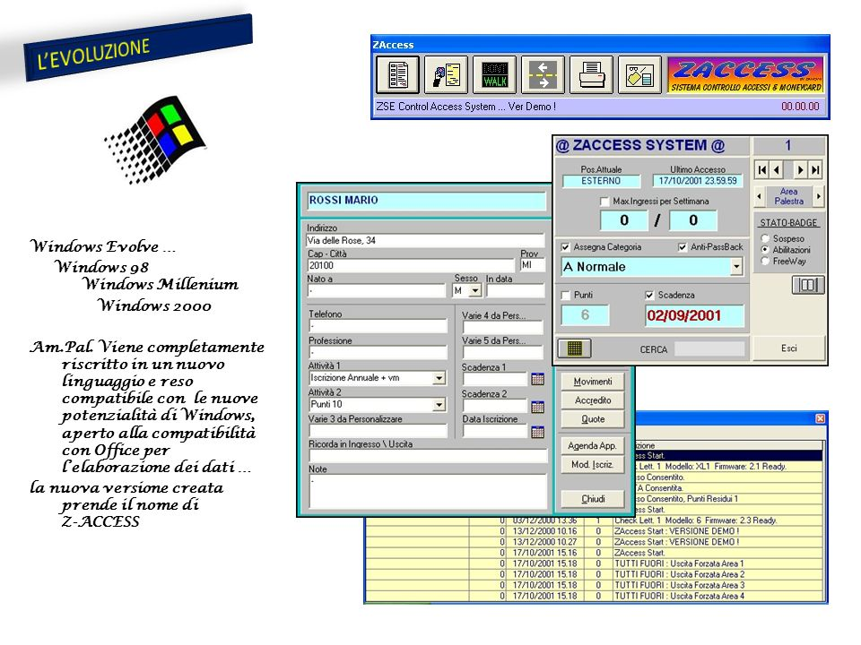 Windows Evolve … Windows 98 Windows Millenium Windows 2000 Am.Pal.