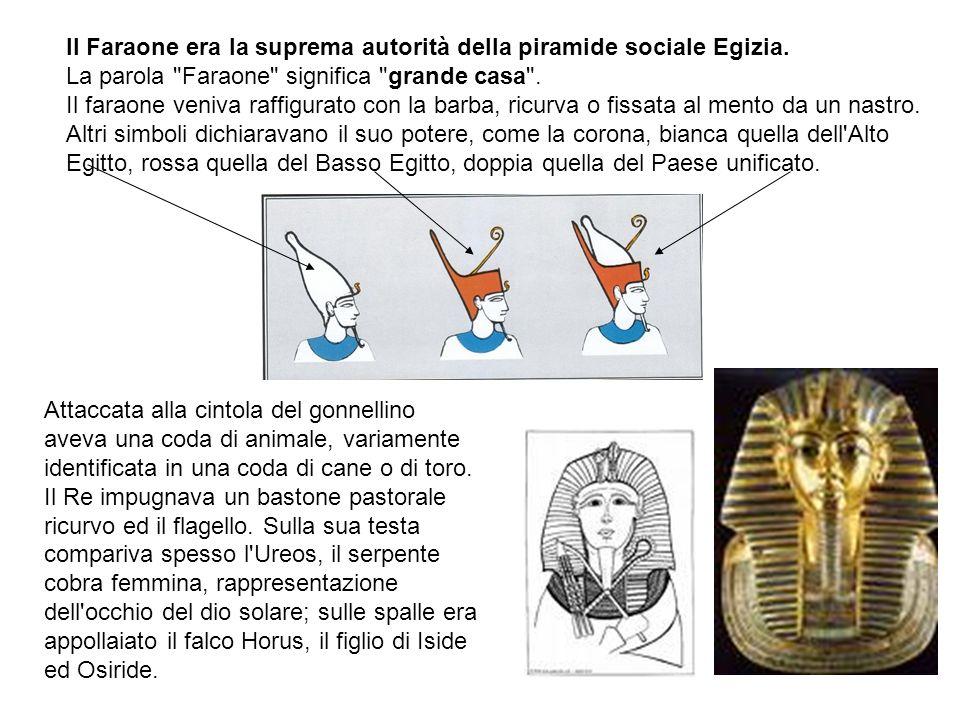 Il Faraone era la suprema autorità della piramide sociale Egizia. La parola