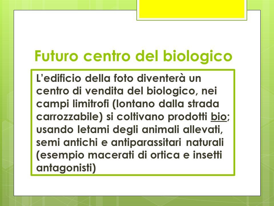 Futuro centro del biologico L'edificio della foto diventerà un centro di vendita del biologico, nei campi limitrofi (lontano dalla strada carrozzabile
