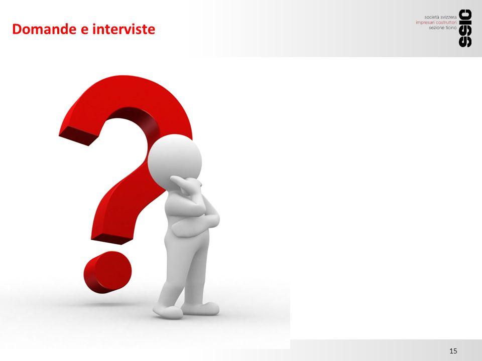 Domande e interviste 15.00 15