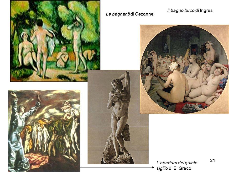 Bianca Vitale - Picasso21 L'apertura del quinto sigillo di El Greco Il bagno turco di Ingres Le bagnanti di Cezanne
