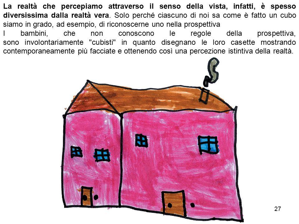 Bianca Vitale - Picasso27 La realtà che percepiamo attraverso il senso della vista, infatti, è spesso diversissima dalla realtà vera.