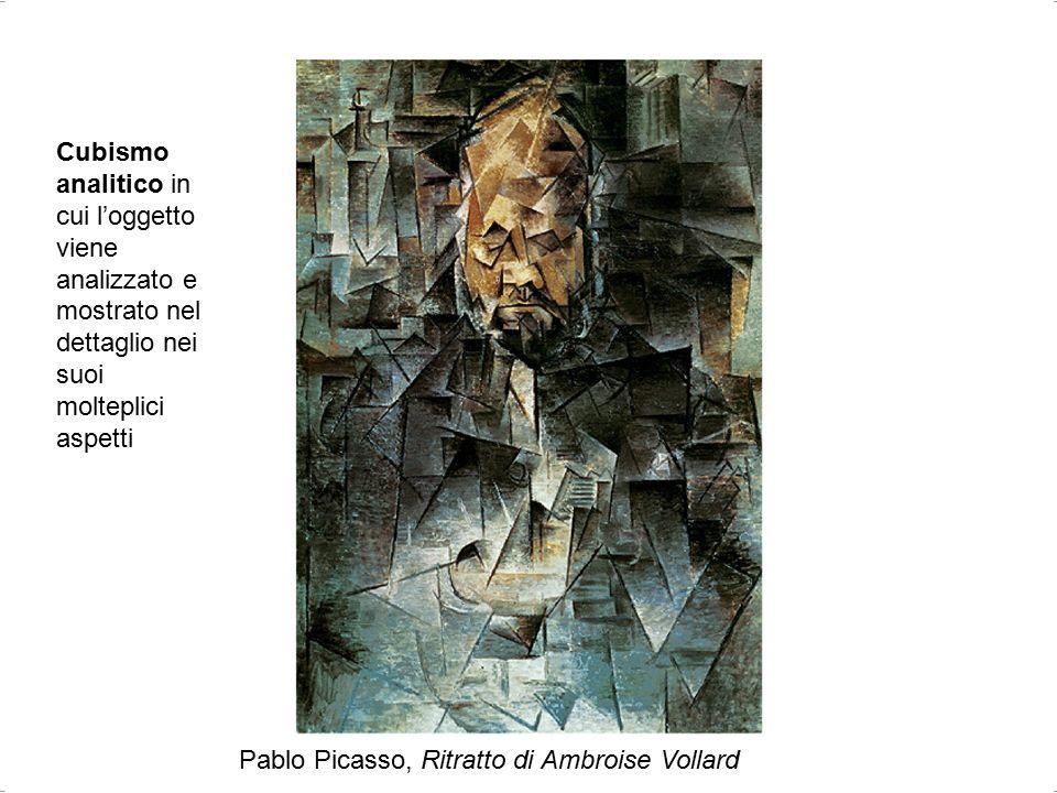 Bianca Vitale - Picasso29 Pablo Picasso, Ritratto di Ambroise Vollard Cubismo analitico in cui l'oggetto viene analizzato e mostrato nel dettaglio nei suoi molteplici aspetti