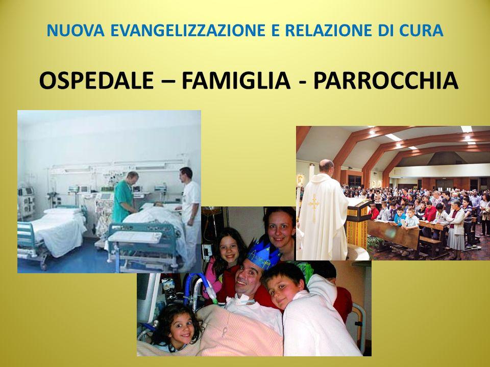 NUOVA EVANGELIZZAZIONE E RELAZIONE DI CURA OSPEDALE – FAMIGLIA - PARROCCHIA