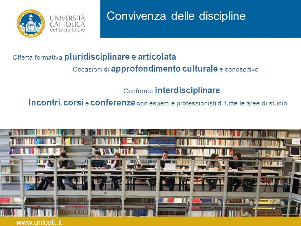 Convivenza delle discipline Offerta formativa pluridisciplinare e articolata Occasioni di approfondimento culturale e conoscitivo Confronto interdisci