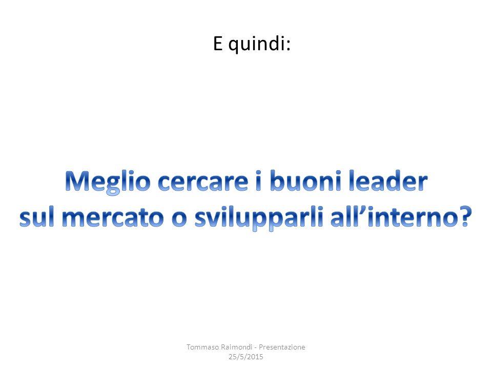E quindi: Tommaso Raimondi - Presentazione 25/5/2015