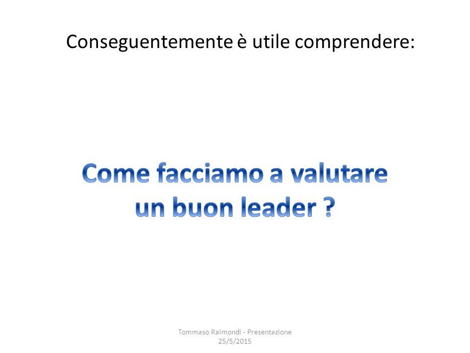 Conseguentemente è utile comprendere: Tommaso Raimondi - Presentazione 25/5/2015