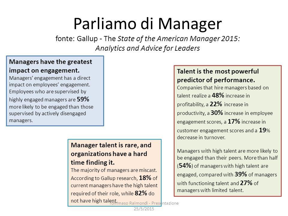 Impatto di una Leadership Efficace sulle Vendite Tommaso Raimondi - Presentazione 25/5/2015 Campione di 170 Responsabili Commerciali