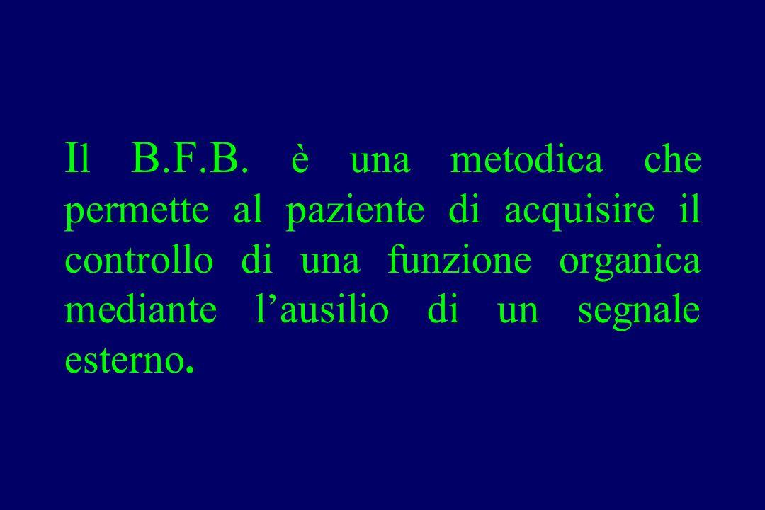 I l B.F.B. è una metodica che permette al paziente di acquisire il controllo di una funzione organica mediante l'ausilio di un segnale esterno.