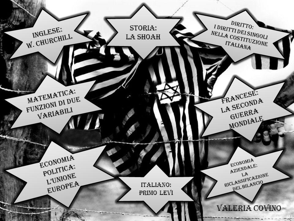 DIRITTO: I diritti dei singoli nella costituzione italiana DIRITTO: I diritti dei singoli nella costituzione italiana FRANCESE: LA seconda guerra mond