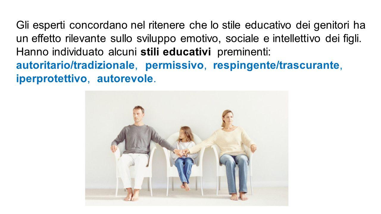 Gli esperti concordano nel ritenere che lo stile educativo dei genitori ha un effetto rilevante sullo sviluppo emotivo, sociale e intellettivo dei fig