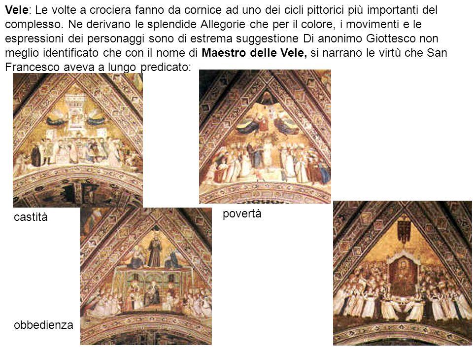 Vele: Le volte a crociera fanno da cornice ad uno dei cicli pittorici più importanti del complesso.