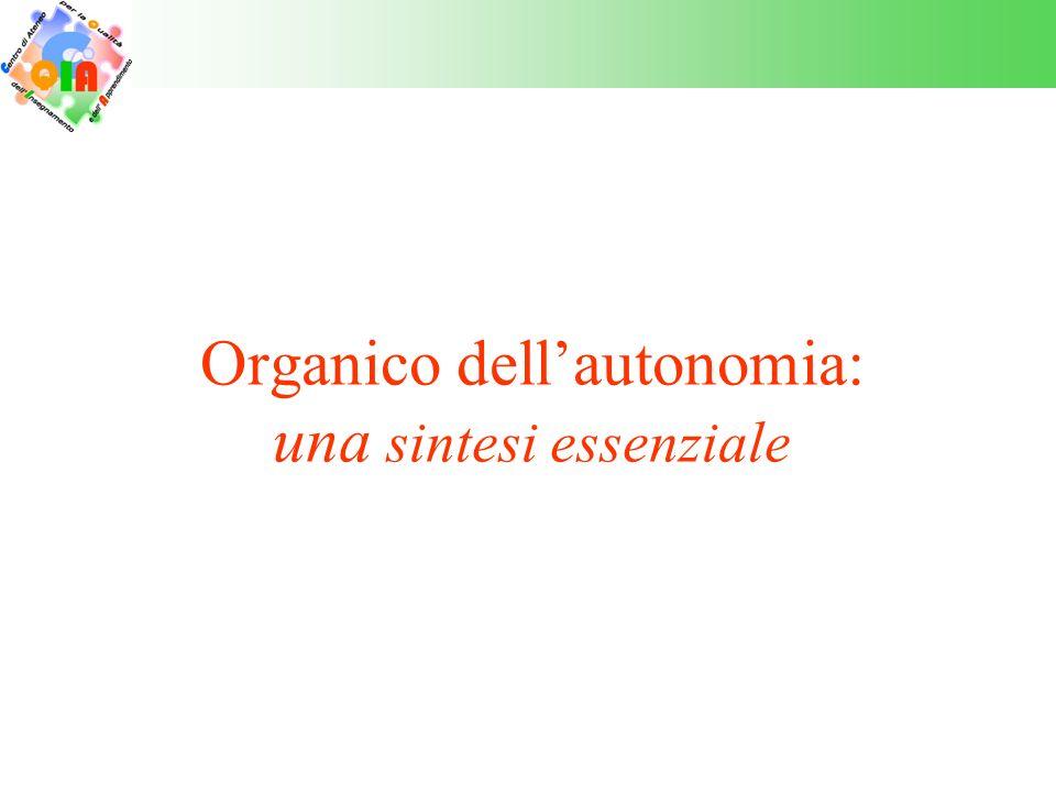 L'organico dell'autonomia a)L'organico dell'autonomia è la risorsa fondamentale per la realizzazione dell'autonomia e dell'offerta formativa potenziata prevista dal PF3.