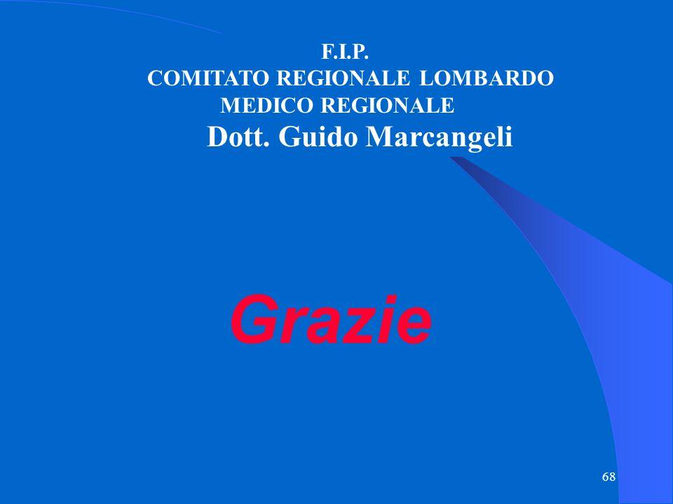 68 F.I.P. COMITATO REGIONALE LOMBARDO MEDICO REGIONALE Dott. Guido Marcangeli Grazie