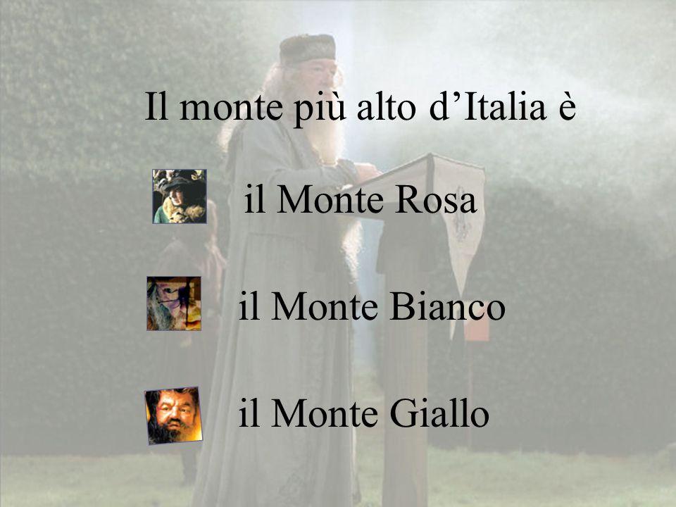 Il monte più alto d'Italia è il Monte Bianco il Monte Rosa il Monte Giallo