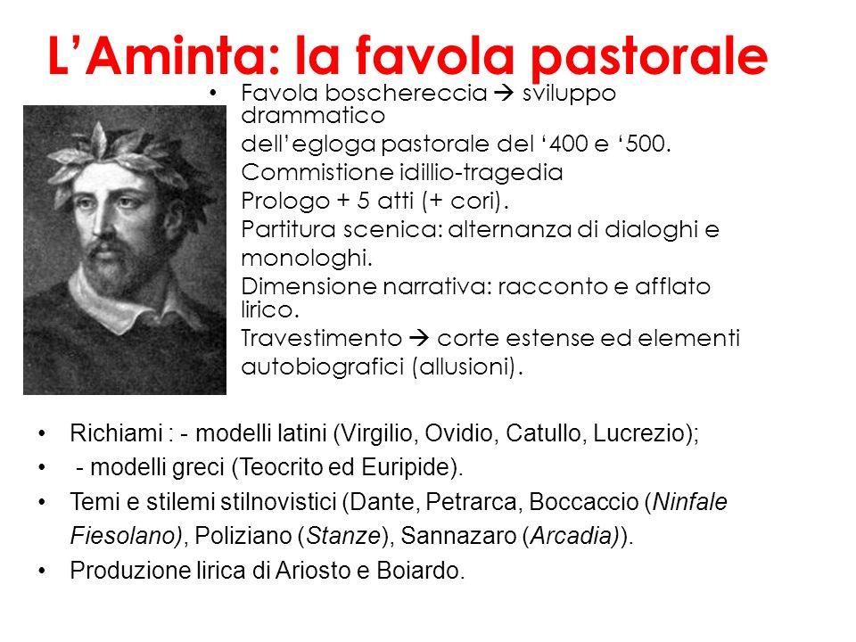 La pastorale di Erminia : l'amore come sofferenza, il sogno idillico, la visione dolorosa della guerra, l'ambivalenza verso la corte