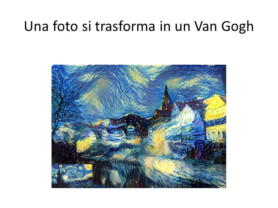 Una foto si trasforma in un Van Gogh