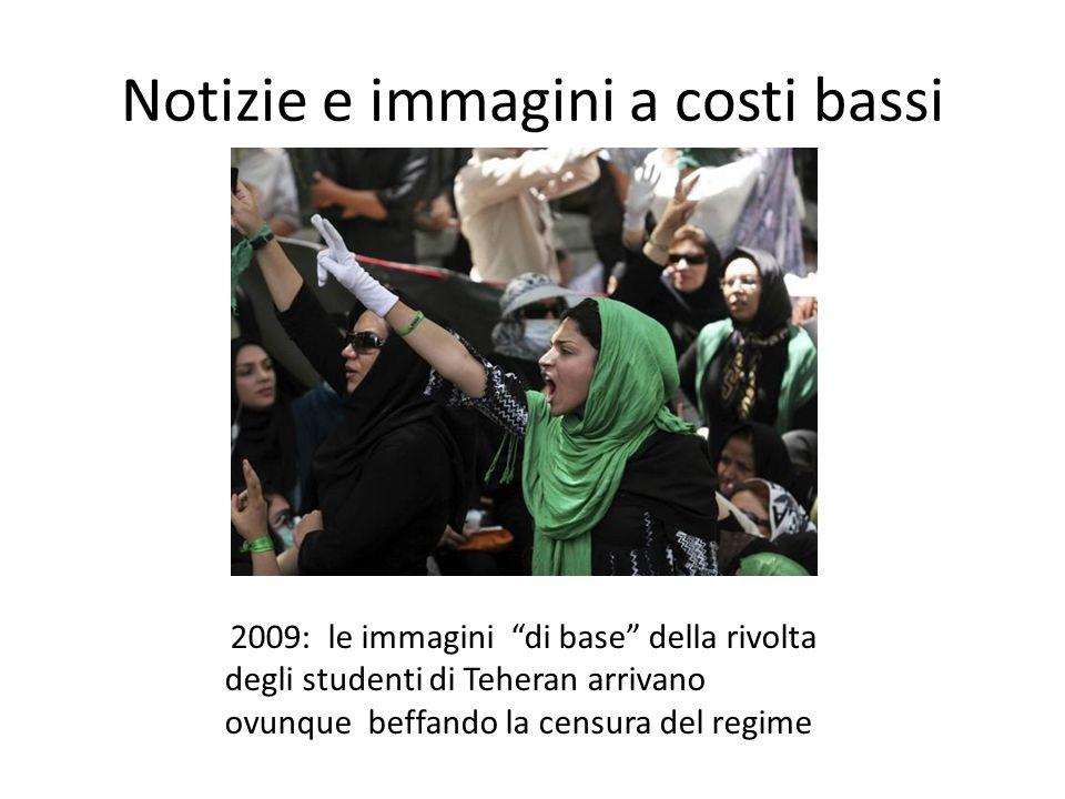 """Notizie e immagini a costi bassi 2009: le immagini """"di base"""" della rivolta degli studenti di Teheran arrivano ovunque beffando la censura del regime"""