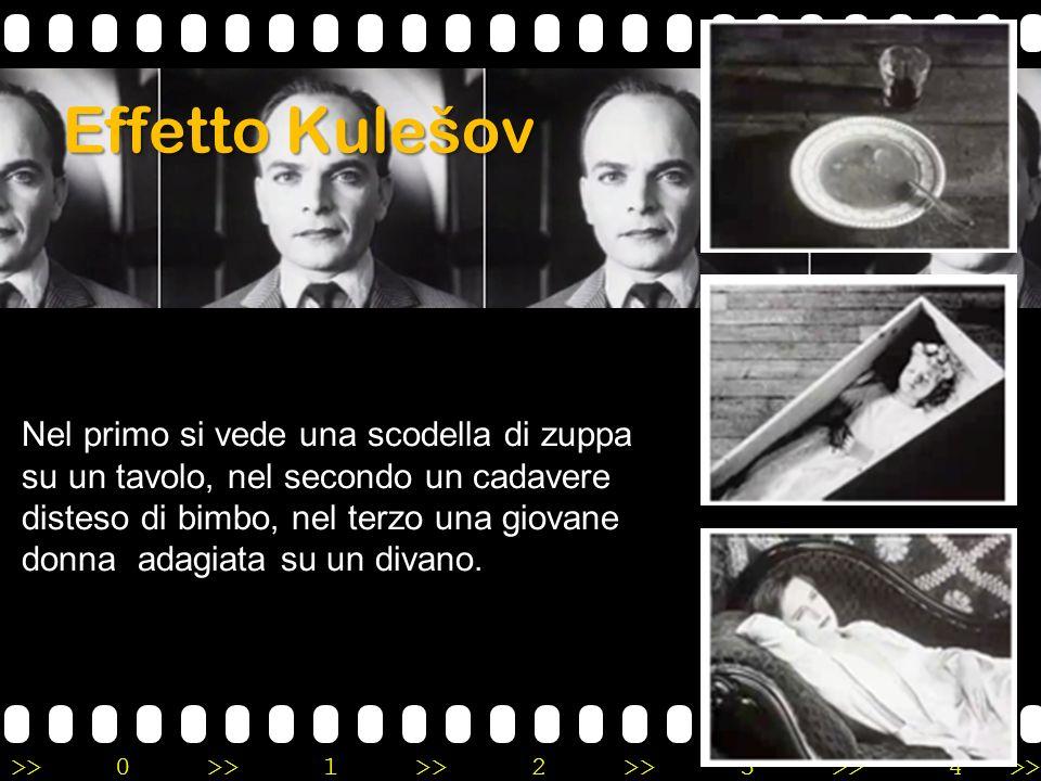 >>0 >>1 >> 2 >> 3 >> 4 >> Effetto Kulešov Nel primo si vede una scodella di zuppa su un tavolo, nel secondo un cadavere disteso di bimbo, nel terzo un